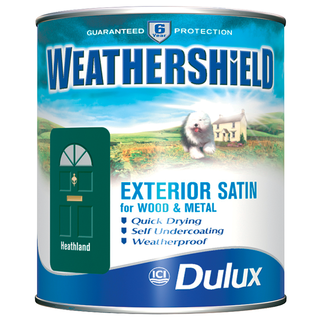 Dulux weathershield satin 750ml kis uk - Weathershield exterior paint system ...